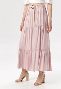 Różowa spódnica born2be maxi