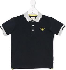 Granatowa koszulka dziecięca Emporio Armani Kids z bawełny