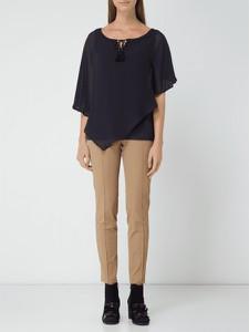 Czarna bluzka comma, z szyfonu
