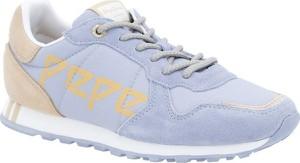 Buty sportowe Pepe Jeans sznurowane ze skóry z płaską podeszwą
