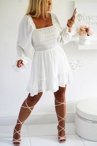 Sukienka Obsessionforyou z tkaniny z dekoltem w kształcie litery v