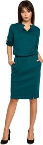 Zielona sukienka Be midi w stylu casual