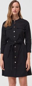 Czarna sukienka Mohito mini z długim rękawem w stylu casual