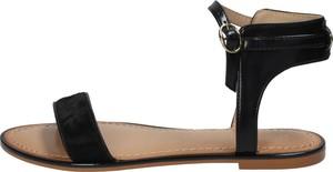 Czarne sandały Tommy Hilfiger z płaską podeszwą