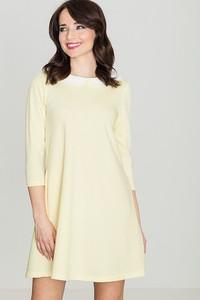 Sukienka sukienki.pl z okrągłym dekoltem w stylu casual oversize
