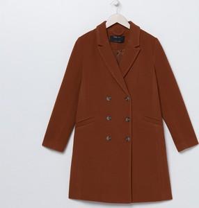 Brązowy płaszcz Sinsay w stylu casual
