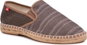 Brązowe buty letnie męskie Big Star z tkaniny