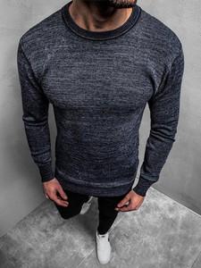 Niebieski sweter Ozonee z wełny