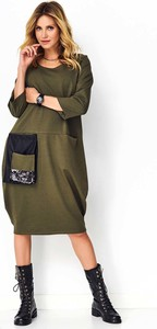 Sukienka Makadamia z bawełny midi w stylu casual
