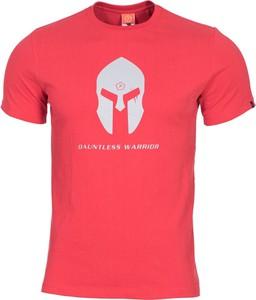 Czerwony t-shirt Pentagon z krótkim rękawem w młodzieżowym stylu