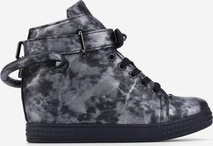 Srebrne buty sportowe Yourshoes sznurowane