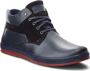 Czarne buty zimowe Lasocki For Men w stylu casual z zamszu sznurowane