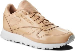 Buty sportowe reebok w sportowym stylu ze skóry sznurowane