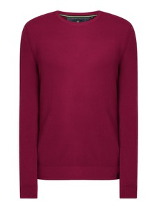 Sweter Lerros w stylu casual z okrągłym dekoltem z bawełny