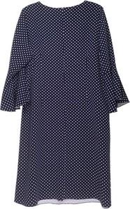 Granatowa sukienka Sklepfilloo z okrągłym dekoltem w stylu casual prosta