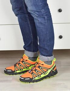 Pomarańczowe buty sportowe Damle sznurowane w sportowym stylu