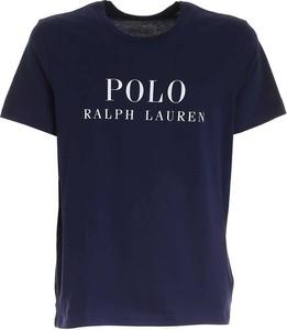 Niebieski t-shirt POLO RALPH LAUREN w młodzieżowym stylu z krótkim rękawem