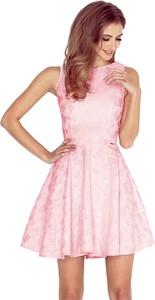Sukienka NUMOCO z żakardu bez rękawów rozkloszowana