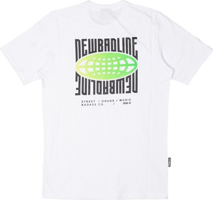 T-shirt New Bad Line w młodzieżowym stylu z bawełny