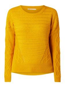 Żółty sweter Only w stylu casual