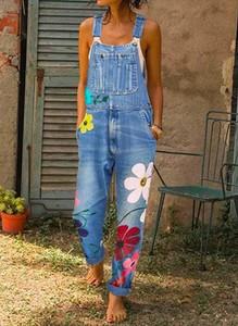 Niebieski kombinezon Cikelly z jeansu