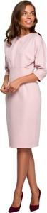 Sukienka Style midi z długim rękawem ołówkowa