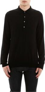 Czarna koszulka polo Cc Collection Corneliani z długim rękawem