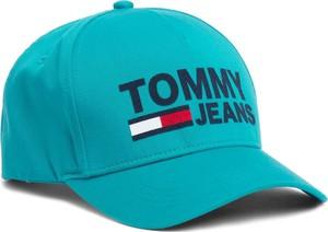 Turkusowa czapka Tommy Hilfiger