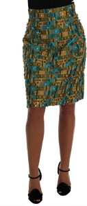 Zielona spódnica Dolce & Gabbana z jedwabiu