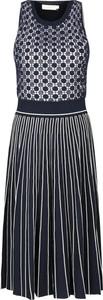 Granatowa sukienka Tory Burch bez rękawów