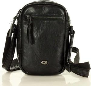 Czarna torba Merg ze skóry