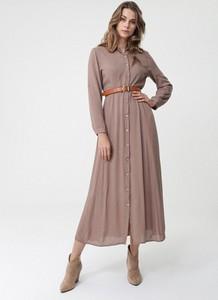 Brązowa sukienka born2be maxi