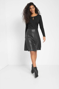 Czarna sukienka ORSAY mini ze skóry