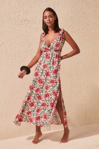 Sukienka Trendyol maxi prosta z dekoltem w kształcie litery v