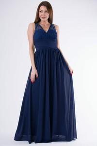 Sukienka Moda Dla Ciebie bez rękawów z dekoltem w kształcie litery v maxi