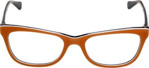 Czerwone okulary damskie Vogue w stylu glamour