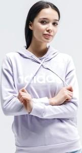 Fioletowa bluza Adidas krótka w sportowym stylu