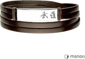 Manoki BA713A brązowa bransoleta skórzana BUDO