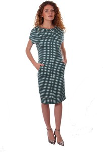 Sukienka Niren z krótkim rękawem w stylu casual midi