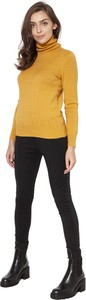 Żółty sweter Lanti w stylu casual