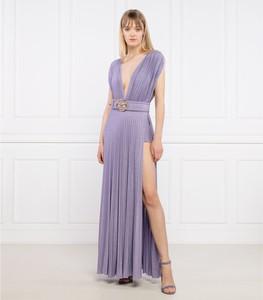 Sukienka Elisabetta Franchi z dekoltem w kształcie litery v maxi