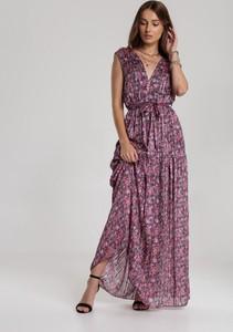 Różowa sukienka Renee w stylu boho maxi