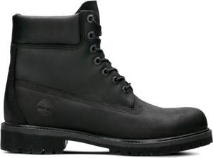 Czarne buty zimowe Timberland ze skóry w street stylu
