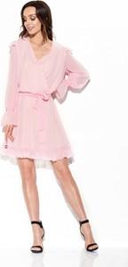 Sukienka Lemoniade z długim rękawem z jedwabiu wyszczuplająca