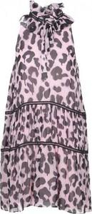 Sukienka Moschino mini w stylu casual z jedwabiu