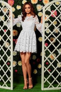 Sukienka issysklep.pl z dekoltem w kształcie litery v z długim rękawem