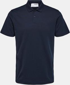 Niebieska koszulka polo Selected Homme z krótkim rękawem
