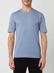 Niebieski t-shirt Fynch Hatton z bawełny