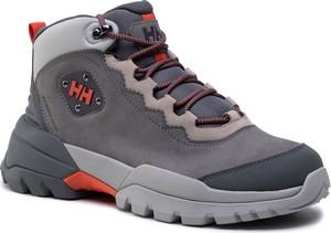 Buty trekkingowe Helly Hansen sznurowane ze skóry ekologicznej