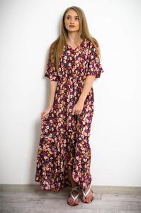 Sukienka Olika maxi z krótkim rękawem w stylu boho